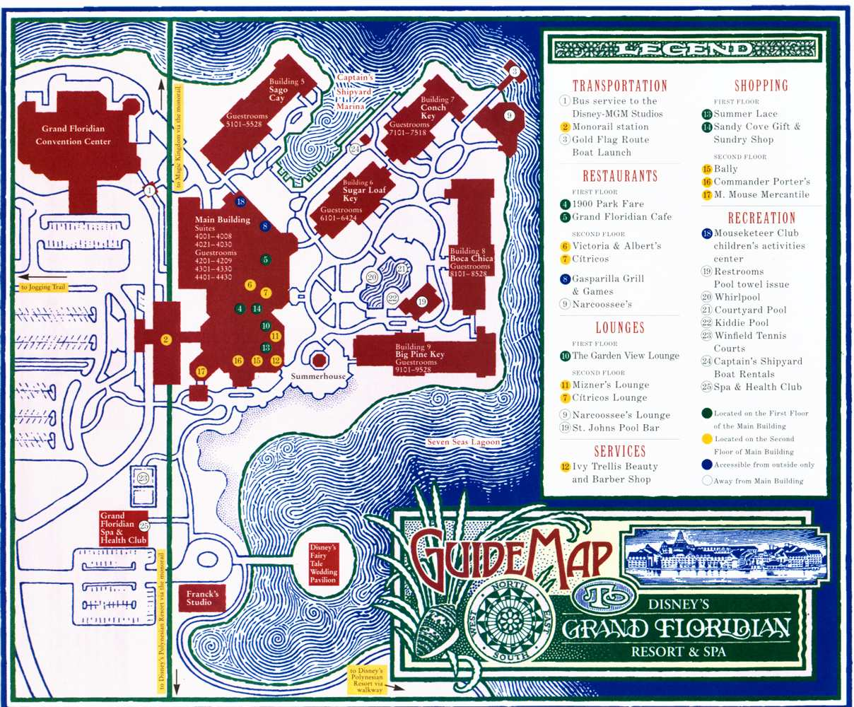 Disney S Grand Floridian Villa Map